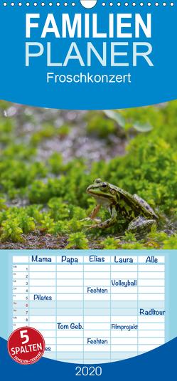 Froschkonzert – Familienplaner hoch (Wandkalender 2020 , 21 cm x 45 cm, hoch) von Di Chito,  Ursula