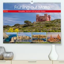 Frühling auf Malta – Kreuzritter, Kirchen und schroffe Küsten (Premium, hochwertiger DIN A2 Wandkalender 2020, Kunstdruck in Hochglanz) von Caccia,  Enrico