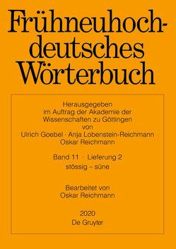 Frühneuhochdeutsches Wörterbuch / Frühneuhochdeutsches Wörterbuch. Band 11/Lieferung 2 von Reichmann,  Oskar