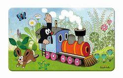 Frühstücksbrettchen Der kleine Maulwurf Lokomotive