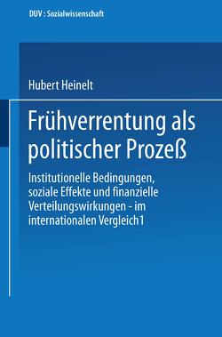 Frühverrentung als politischer Prozeß von Heinelt,  Hubert