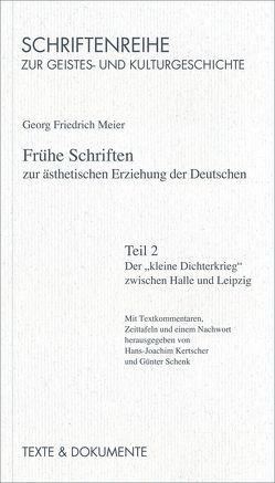 Frühe Schriften zur ästhetischen Erziehung der deutschen von Kertscher,  Hans J, Meier,  Georg F, Schenk,  Günter, Schwarz,  Manfred