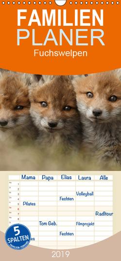Fuchswelpen – Familienplaner hoch (Wandkalender 2019 , 21 cm x 45 cm, hoch) von Marklein,  Gabi