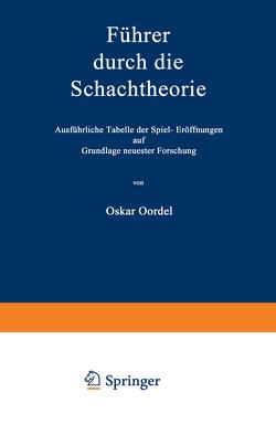 Führer durch die Schachtheorie von Cordel,  Oskar