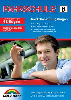 Führerschein Fragebogen Klasse B – Auto Theorieprüfung original amtlicher Fragenkatalog auf 68 Bögen