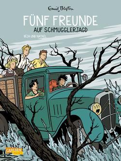 Fünf Freunde 4: Fünf Freunde auf Schmugglerjagd von Béja, Blyton,  Enid, Nataël, von der Weppen,  Annette