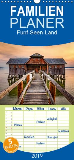 Fünf-Seen-Land – Familienplaner hoch (Wandkalender 2019 , 21 cm x 45 cm, hoch) von Marufke,  Thomas