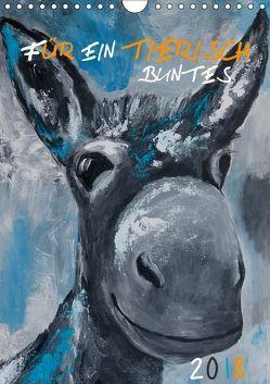 Für ein tierisch buntes 2019 (Wandkalender 2019 DIN A4 hoch) von Daniel/DANI+,  Uta