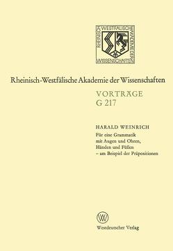 Für eine Grammatik mit Augen und Ohren, Händen und Füßen — am Beispiel der Präpositionen von Weinrich,  Harald