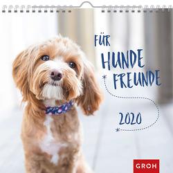 Für Hundefreunde 2020: Dekorativer Wandkalender mit Monatskalendarium von Groh Redaktionsteam