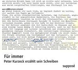 Für immer von Kurzeck,  Peter, Sander,  Klaus