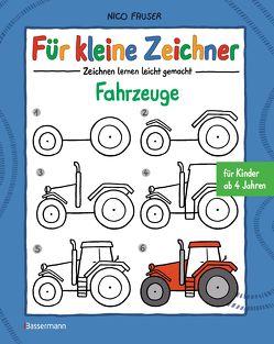 Für kleine Zeichner – Fahrzeuge von Fauser,  Nico