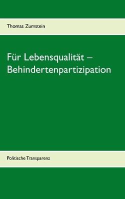 Für Lebensqualität – Behindertenpartizipation von Zumstein,  Thomas