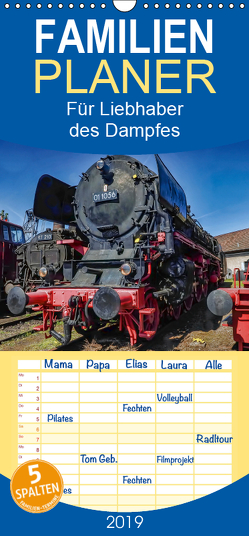 Für Liebhaber des Dampfes, Dampflocks – Familienplaner hoch (Wandkalender 2019 , 21 cm x 45 cm, hoch) von DOKSKH