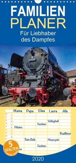 Für Liebhaber des Dampfes, Dampflocks – Familienplaner hoch (Wandkalender 2020 , 21 cm x 45 cm, hoch) von DOKSKH