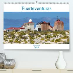 Fuerteventuras Sonnenseite (Premium, hochwertiger DIN A2 Wandkalender 2020, Kunstdruck in Hochglanz) von r.gue.