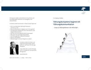 Führungskompetenz beginnt mit Führungskommunikation von Dobler,  Markus