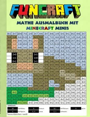 Funcraft – Mathe Ausmalbuch: Minecraft Minis (Cover Hase) von Taane,  Theo von