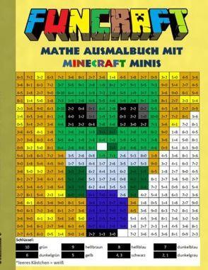 Funcraft – Mathe Ausmalbuch Minecraft Minis (Cover Zombie) von Taane,  Theo von
