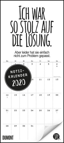 Funi Smart Art Notizkalender 2020 – Wandkalender – Funny Quotes, Sprüche – Format 22 x 49,5 cm von DUMONT Kalenderverlag, FUNI SMART ART
