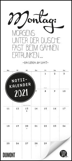 Funi Smart Art Notizkalender 2021 – Planer – Funny Quotes, Sprüche – Format 22 x 49,5 cm