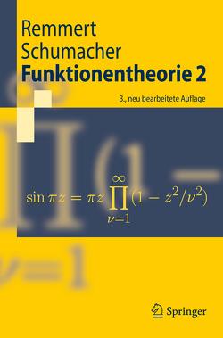 Funktionentheorie 2 von Remmert,  Reinhold, Schumacher,  Georg
