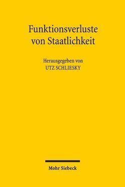 Funktionsverluste von Staatlichkeit von Schliesky,  Utz