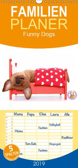 Funny Dogs – Familienplaner hoch (Wandkalender 2019 , 21 cm x 45 cm, hoch) von Hutfluss,  Jeanette
