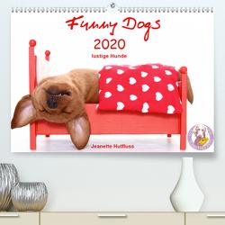 Funny Dogs (Premium, hochwertiger DIN A2 Wandkalender 2020, Kunstdruck in Hochglanz) von Hutfluss,  Jeanette