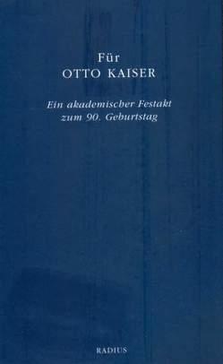 Für Otto Kaiser von Kepper,  Martina