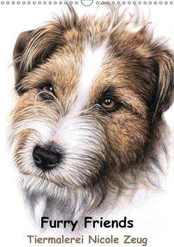 Furry Friends – Tiermalerei Nicole Zeug (Wandkalender 2018 DIN A3 hoch) von Zeug,  Nicole