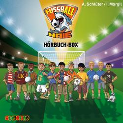 Fußball-Haie Hörbuch-Box von Margil,  Irene, Olev,  Fjodor, Schlüter,  Andreas