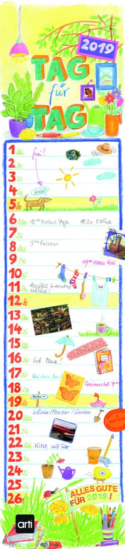"""Gabi Kohwagner Streifenkalender """"Tag für Tag"""""""