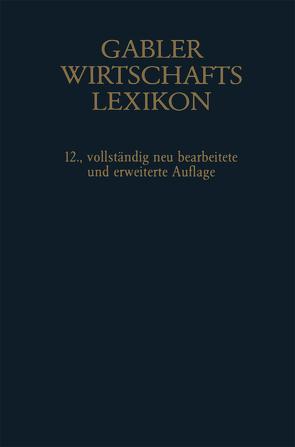Gablers Wirtschafts Lexikon von Sellien,  Helmut, Sellien,  Reinhold
