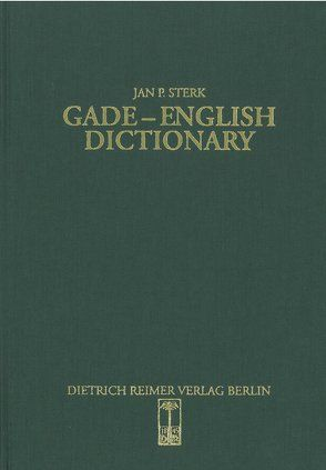 Gade-English Dictionary von Sterk,  Jan P
