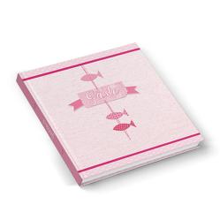"""Gästebuch """"3 rosa-rote Fische"""" (Hardcover 21,5 x 21,5 cm, Blankoseiten)"""
