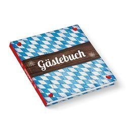 """Gästebuch """"Bayern Raute auf Holz"""" (Hardcover 21×21 cm, Blankoseiten)"""