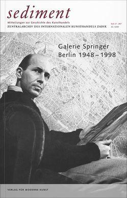 Galerie Springer. Berlin 1948–1998 von Dichgans,  Christa, Friese,  Klaus Gerrit