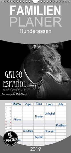 Galgo Español – der spanische Windhund 2019 – Familienplaner hoch (Wandkalender 2019 , 21 cm x 45 cm, hoch) von - Andrea Redecker,  4pfoten-design
