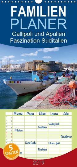 Gallipoli und Apulien – Faszination Süditalien – Familienplaner hoch (Wandkalender 2019 , 21 cm x 45 cm, hoch) von Schikore,  Martina
