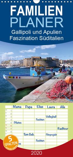 Gallipoli und Apulien – Faszination Süditalien – Familienplaner hoch (Wandkalender 2020 , 21 cm x 45 cm, hoch) von Schikore,  Martina