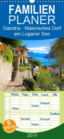 Gandria – Malerisches Dorf am Luganer See – Familienplaner hoch (Wandkalender 2019 , 21 cm x 45 cm, hoch) von LianeM