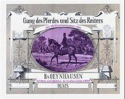 Gang des Pferdes und Sitz des Reiters von Oeynhausen,  B von