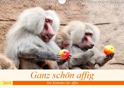 Ganz schön affig – Der Kalender der Affen (Wandkalender 2019 DIN A4 quer) von Klatt,  Arno