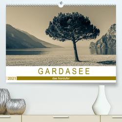 GARDASEE – das Nordufer (Premium, hochwertiger DIN A2 Wandkalender 2021, Kunstdruck in Hochglanz) von Rost,  Sebastian
