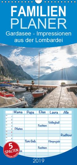Gardasee – Impressionen aus der Lombardei – Familienplaner hoch (Wandkalender 2019 , 21 cm x 45 cm, hoch) von Mosert,  Stefan