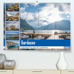 Gardasee – Impressionen aus der Lombardei (Premium, hochwertiger DIN A2 Wandkalender 2021, Kunstdruck in Hochglanz) von Mosert,  Stefan