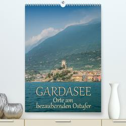 GARDASEE Orte am bezaubernden Ostufer (Premium, hochwertiger DIN A2 Wandkalender 2020, Kunstdruck in Hochglanz) von Viola,  Melanie