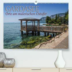 GARDASEE Orte am malerischen Ostufer (Premium, hochwertiger DIN A2 Wandkalender 2020, Kunstdruck in Hochglanz) von Viola,  Melanie