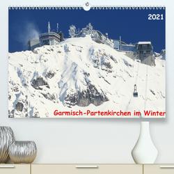 Garmisch-Partenkirchen im Winter (Premium, hochwertiger DIN A2 Wandkalender 2021, Kunstdruck in Hochglanz) von Layer,  Arno